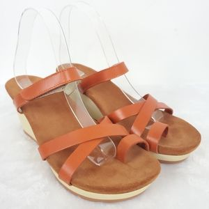 Wolky Fancy Me Wedge Sandals Size 9